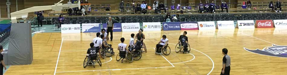 車いすバスケ競技の写真